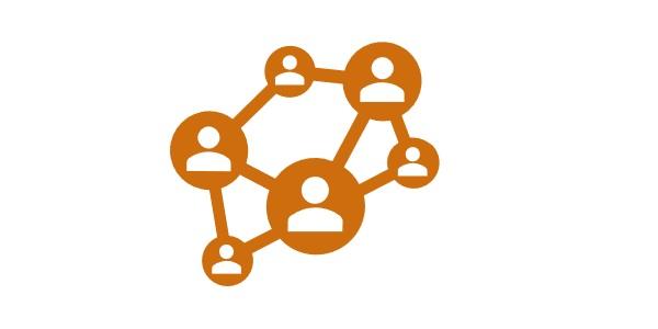 Illustration d'un maillage de groupe de travail en organisaiton